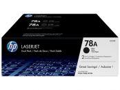 DUAL PACK TONER PARA IMPRESORA HP  LASER NEGRO 78 A 2.100 PAGINAS PACK 2 LASERJET P/1566/1606 LASERJET M/1536 RENDIMIENTO: HP 78A Dual Pack - CE278AD